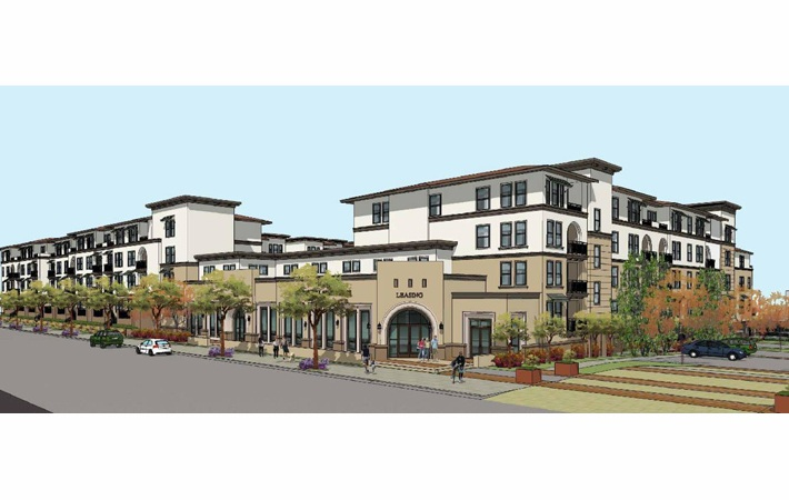El Camino Real Apartments Front View Rendering