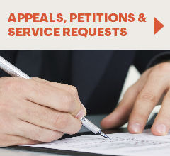 Appeals, Petitions, * service requests