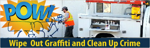 wipe out graffiti and clean up crime