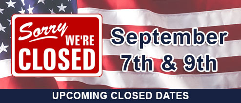 September Closed Dates
