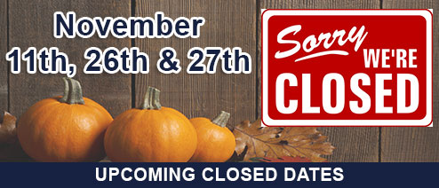 November Closed Dates