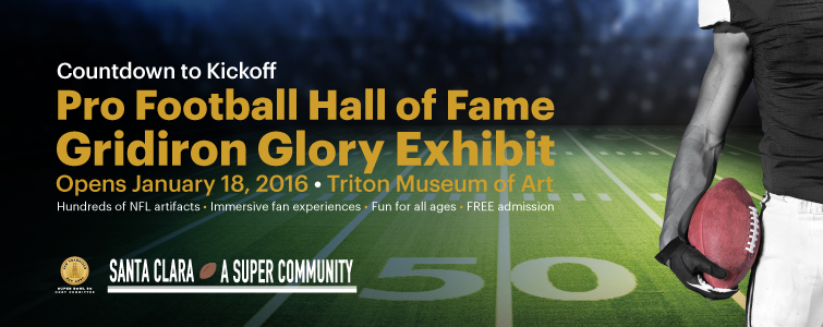 Triton Museum of Art is home to 'Gridiron Glory: The Best of the Pro Football Hall of Fame exhibit'