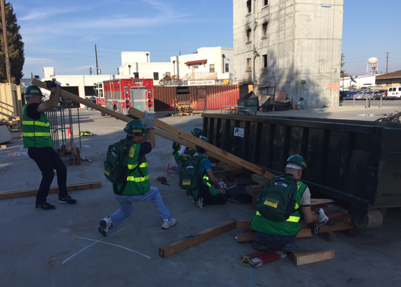 CERT members in training