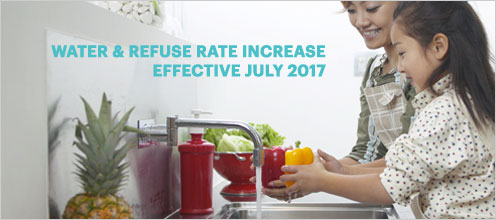 Water & Refuse rate Increase effective july 2017