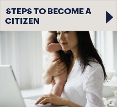 Button: Steps to become a citizen