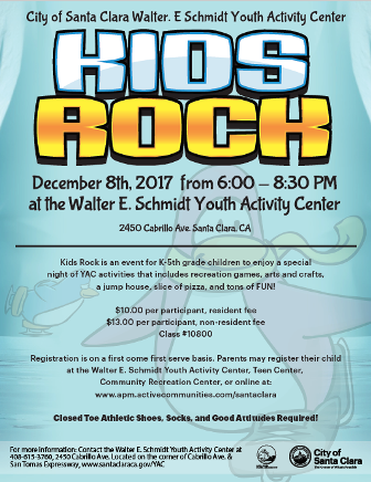 2017 Dec 8, kids rock, YAC, elementary school, special event