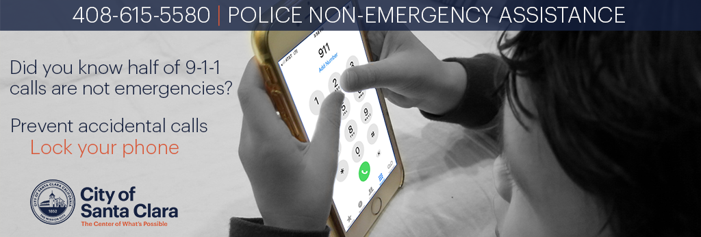 did you know half of 911 calls are not emergencies? prevent accidental calls. lock your phone.
