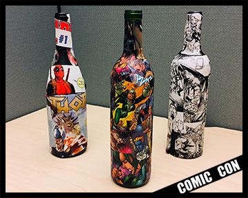 Comic Wine Bottles