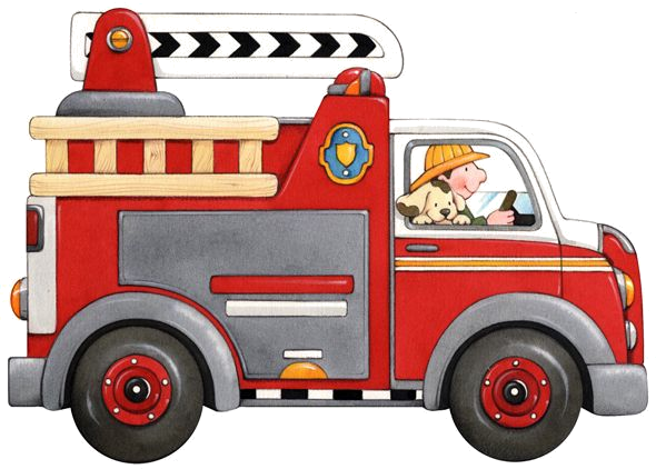 Fire Truck with dog