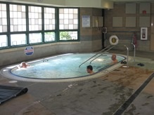 Seniors relaxing in the spa