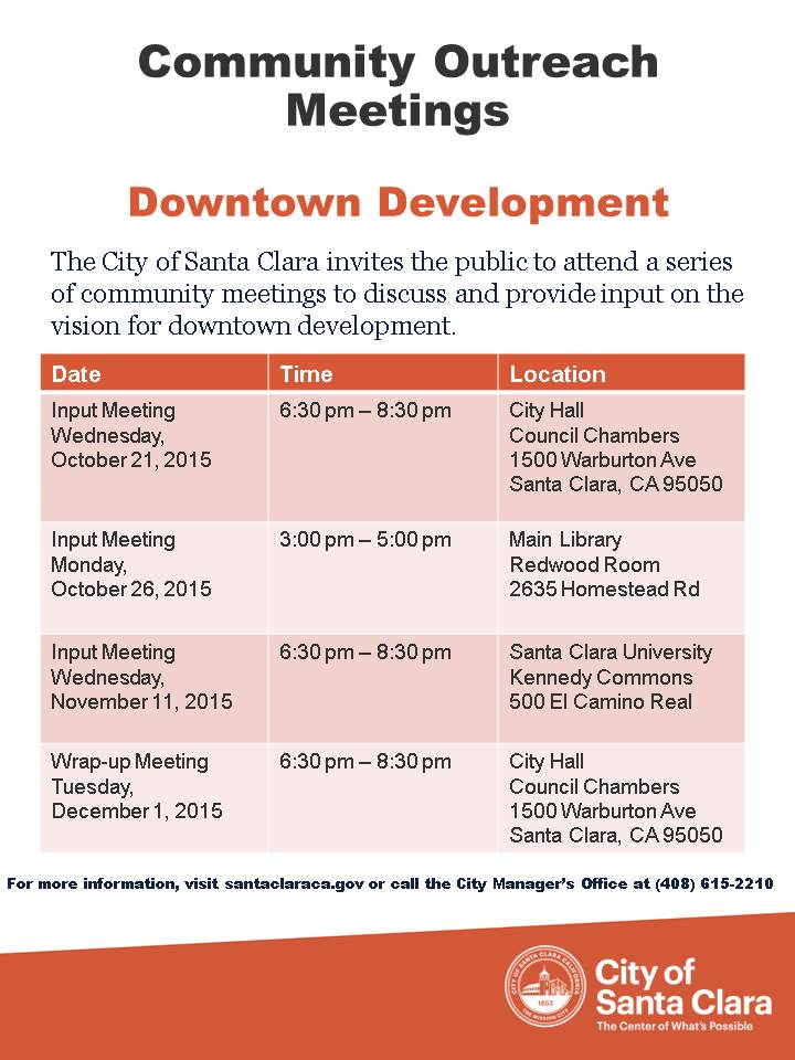 Downtown Outreach Meeting Flyer
