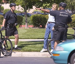2 Officers giving directions