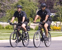 2 officers on bicycles