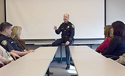 Chief talking to class