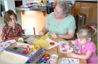 Caregiver doing fun Activities with Children