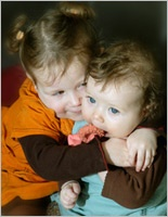 Becoming A Family: Sibling Hug
