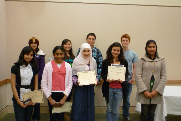 2010 Teen Writing Contest Winners