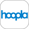 hoopla logo, links to hoopla.com