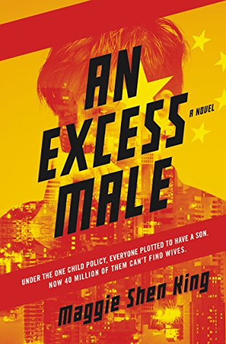 book cover for an excess male by maggie shen king