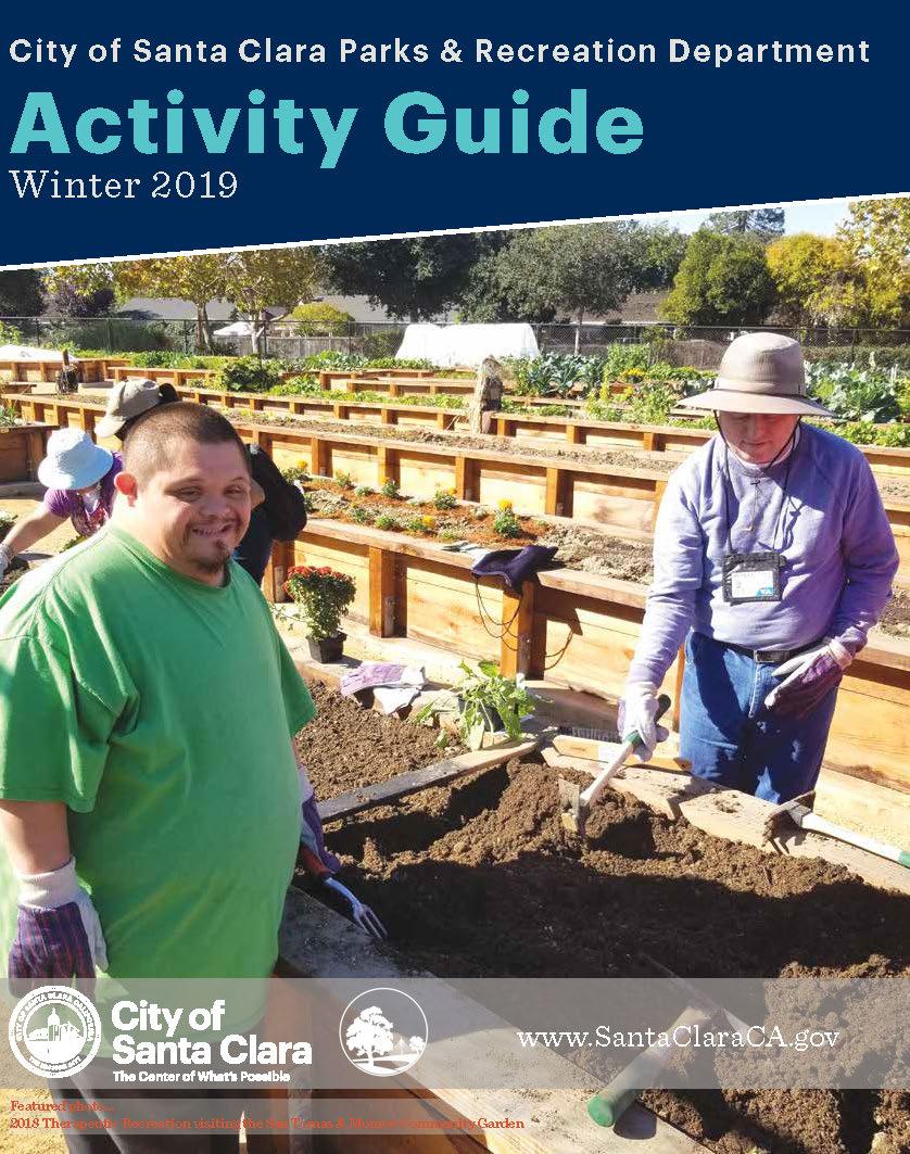 Winter 2019 Activity Cover. View Santa Clara Parks & Recreation Activity  Guides