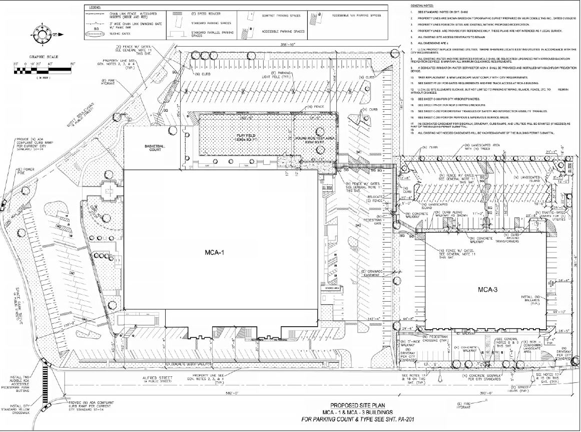 MCA site plan