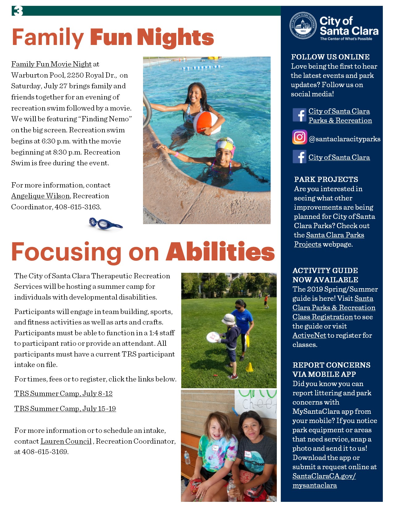 eNewsletter, Page 3 - July 2019