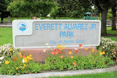 Everett Alvarez Park Sign