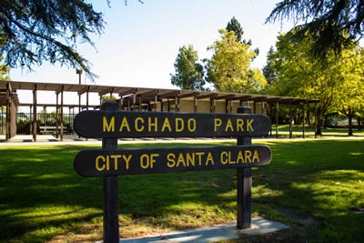Machado Park Sign