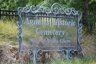 Agnews Museum & Cemetery Sign