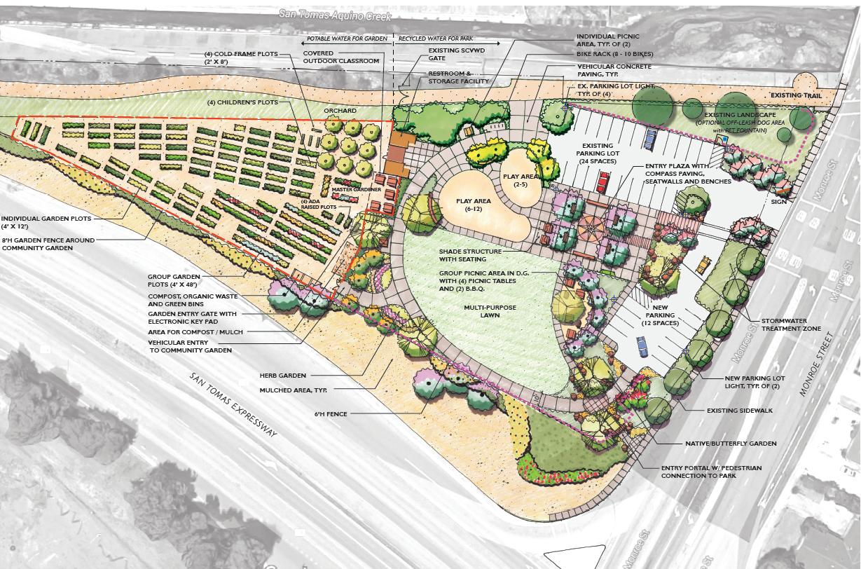 San Tomas & Monroe Park Site Plan